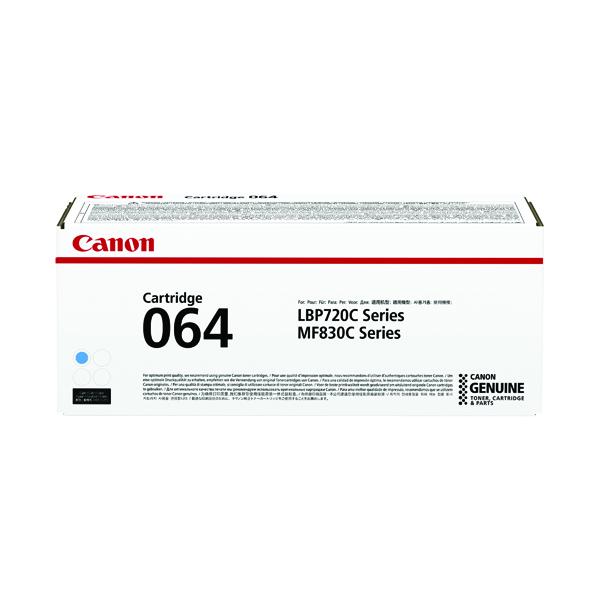 Canon Cartridge 064 Cyan Laser Toner Cartridge 4935C001