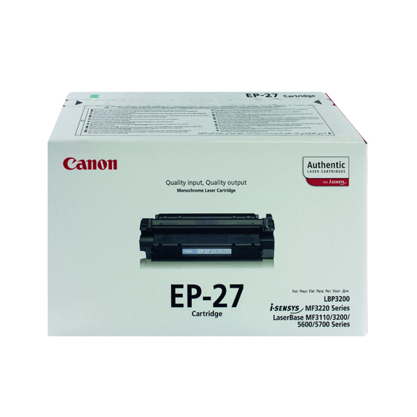 Canon EP-27 Black Toner Cartridge 8489A002