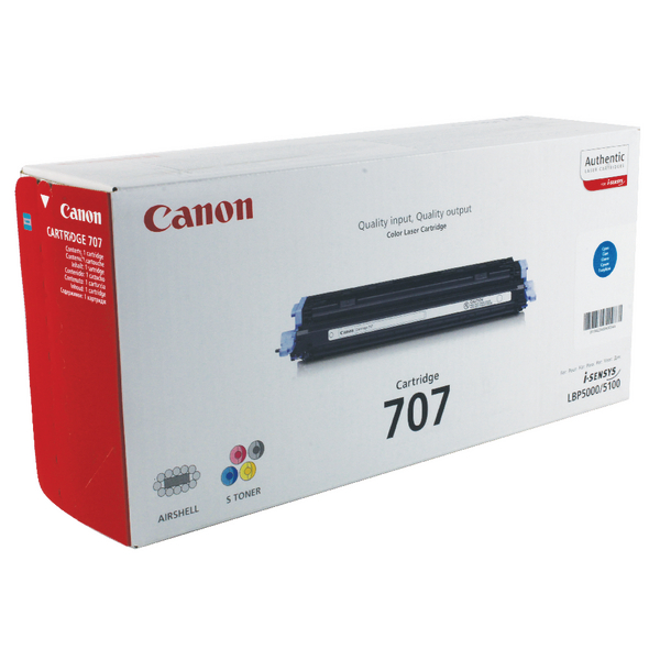 Canon 707C Cyan Toner Cartridge 9423A004