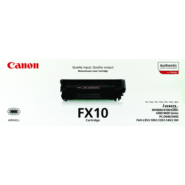 Canon FX-10 Black Toner Cartridge 0263B002