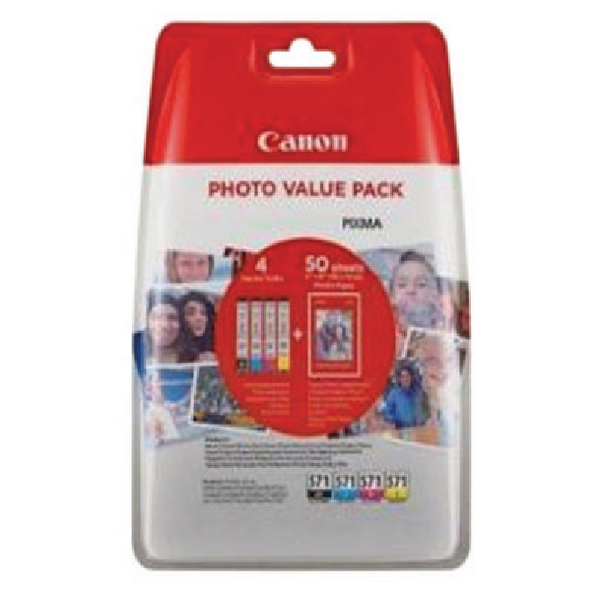 Canon 0386C006 CLI571 CMYK Photo Ink 4x7ml Multipack