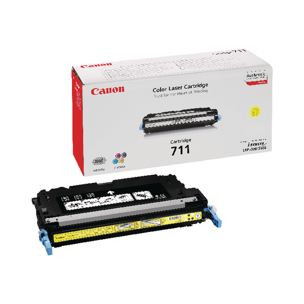 Canon 711Yellow Laser Toner Cartridge 1657B002