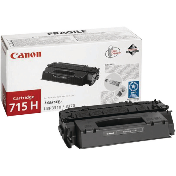 Canon 715H Black High Capacity Toner Cartridge 1976B002