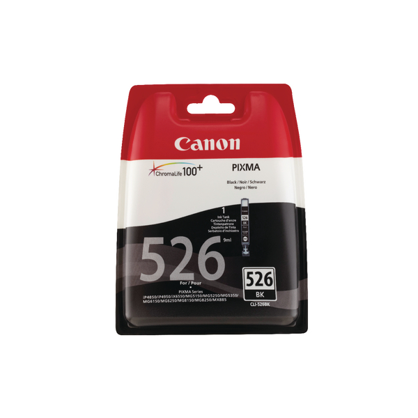 Canon CLI-526 Black Ink Cartridge Blistered With Security 4540B006