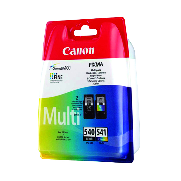 Canon PG-540/Cl-541 CMYK Multi Pack Ink Cartridges 5225B007