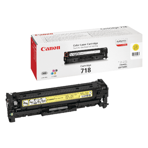 Canon 718Y Yellow Laser Toner Cartridge 2659B002