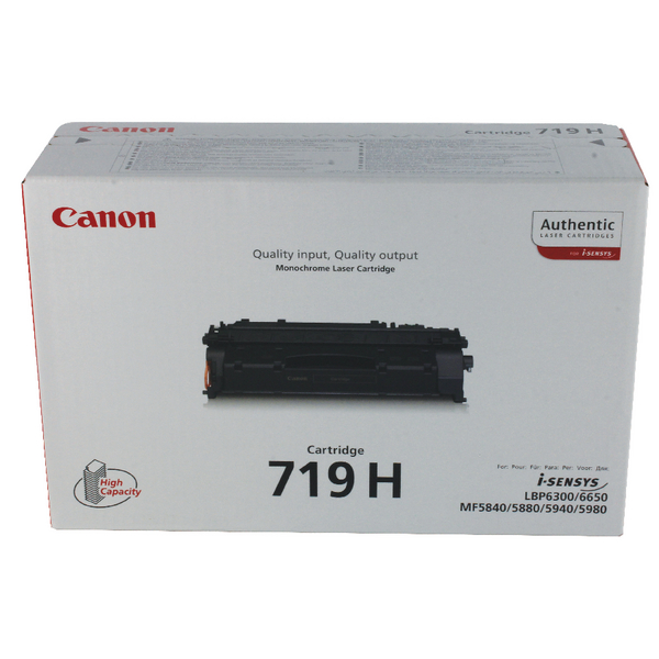 Canon 719 Black High Capacity Toner Cartridge 3480B002AA