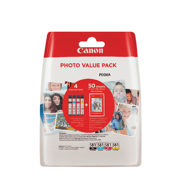 Canon CLI-581 CMYK Photo Cartridge Pack 2106C005