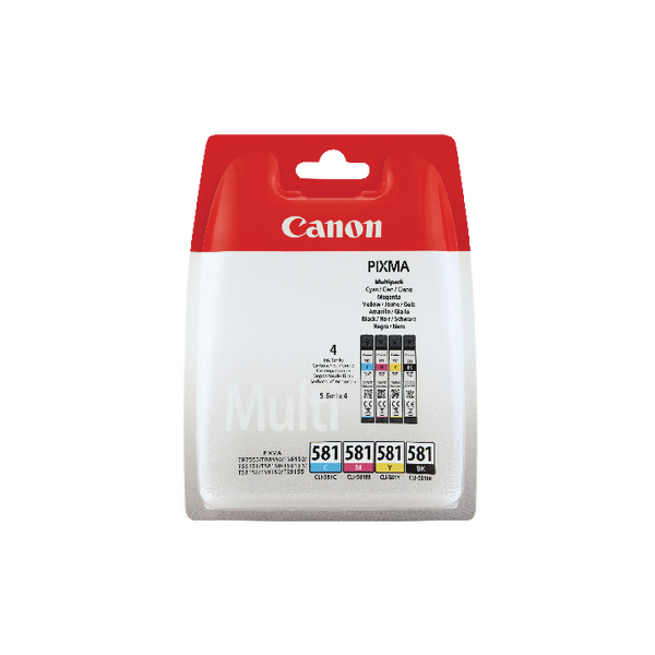 Canon CLI-581 CMYK Ink Cartridge Multi-Pack 2103C004