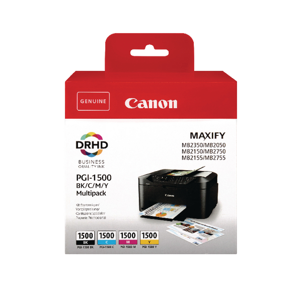 Canon PGI-1500 CMYK Ink Cartridge Multi-Pack 9218B005