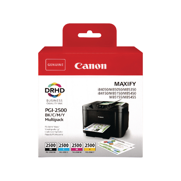 Canon PGI-2500 CMYK Ink Cartridge Multi-Pack 9290B004