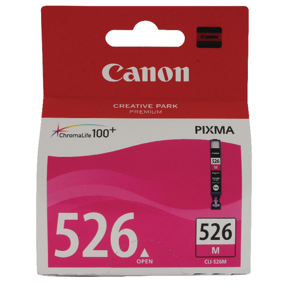 Canon CLI-526M Magenta Inkjet Cartridge (Capacity: 495 pages) 4542B001