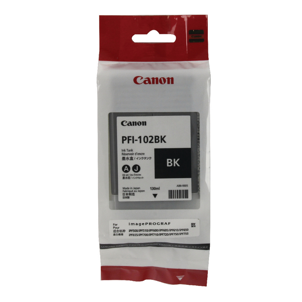 Canon PFI-102BK Black Ink Tank 130ml 0895B001