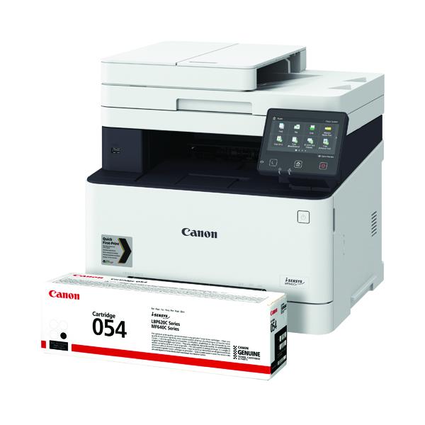 Canon i-SENSYS MF645CX MFC Printer FOC Canon 054 Black Toner Cartridge