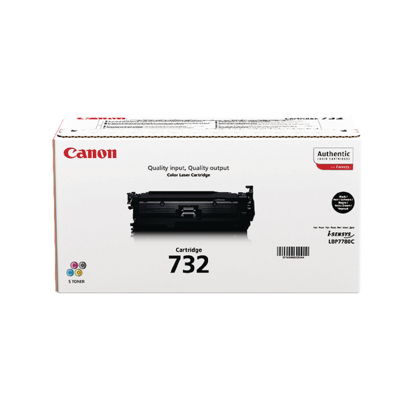 Canon 732BK Black Toner Cartridge 6263B002