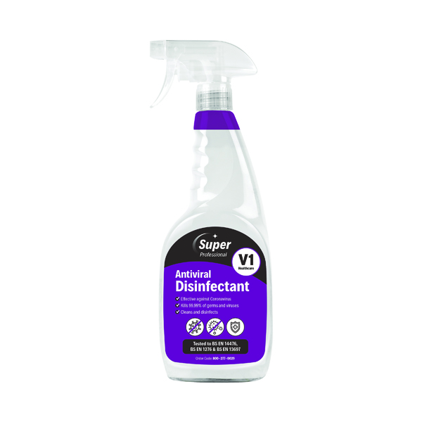 Antiviral Disinfectant Trigger Spray 750ml (Pack of 6) 800-277-0029