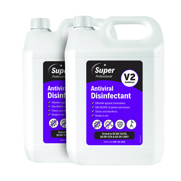 Antiviral Disinfectant 5 Litre (Pack of 2) 800-122-0018