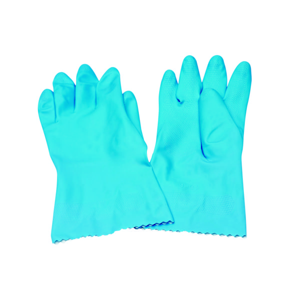 Rubber Gloves Medium Blue (Pack of 12) 803191