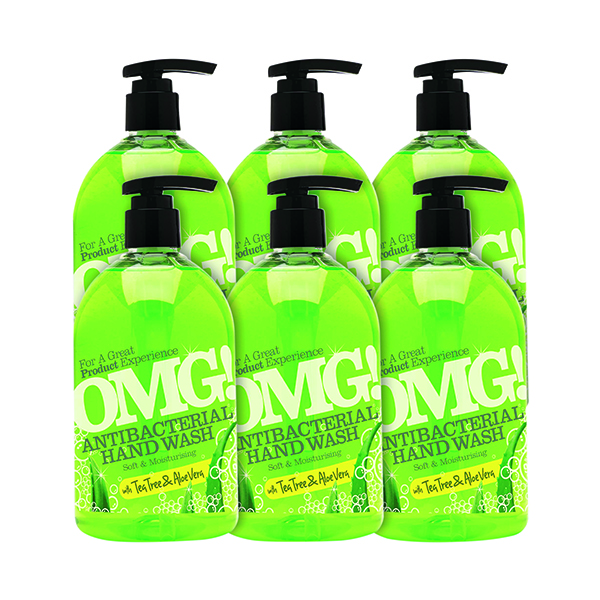 OMG Antibacterial Hand Soap 500ml (Pack of 6) 0604398
