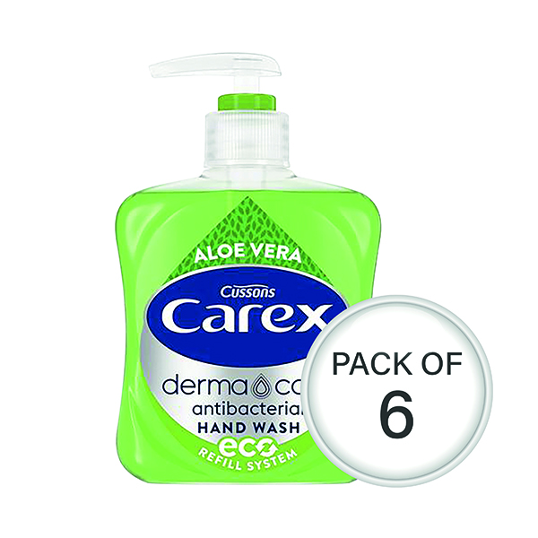 Carex Aloe 250ml (Pack of 6) 339865