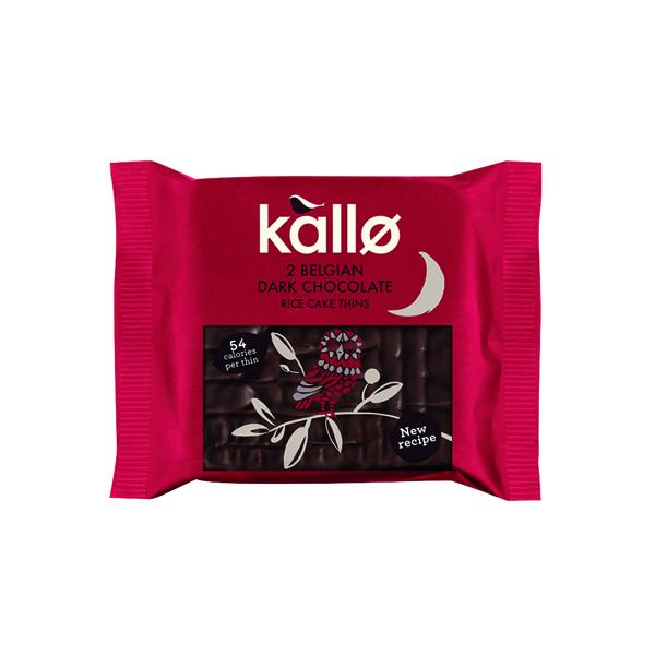 Kallo Dark Chocolate Rice Cake Thin (Pack of 21) 0401167
