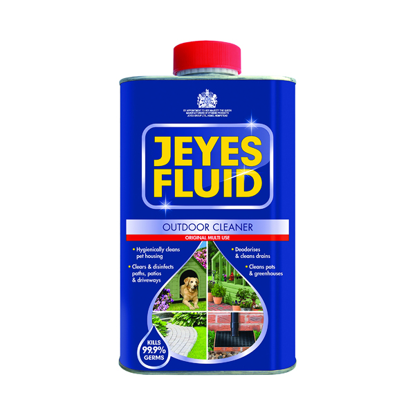 Jeyes Fluid Outdoor Disinfectant 1 Litre (Use on drains, patios and conservatories) 1004028