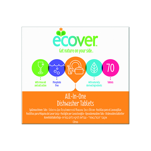 Ecover Dishwash Tablets All in One XL 70 tabs (Pack of 70) 1002126