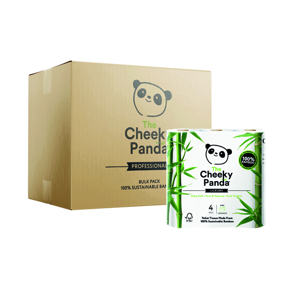 Cheeky Panda Bamboo 4 Toilet Rolls (Pack of 6) 1102181