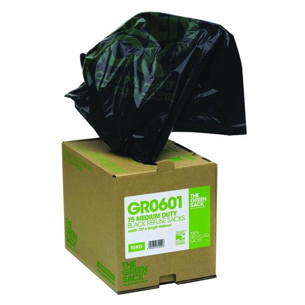 The Green Sack Compactor Sack in Dispenser Black (Pack of 40) VHP GR0602