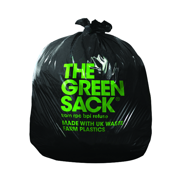 The Green Sack Heavy Duty Refuse Sack Black (Pack of 200) KMAXHD