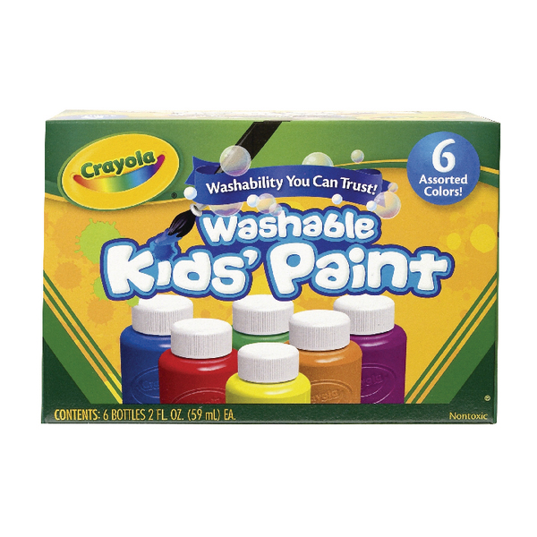 Image for Crayola Washable Kids Paint Colours (Pack of 36) 54-1204 (1)