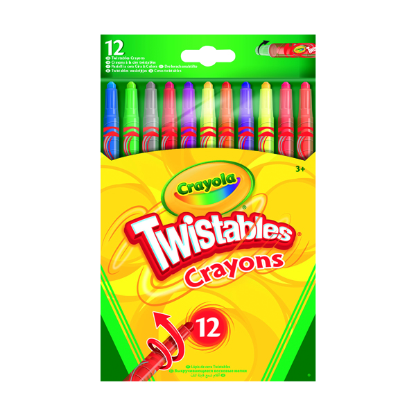 12 Crayola Twistable Coloured Pencils (Pack of 6) 52-8530-E-000