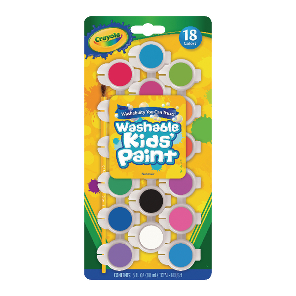 Image for Crayola Washable Kids Poster Paints (Pack of 108) 54-0125