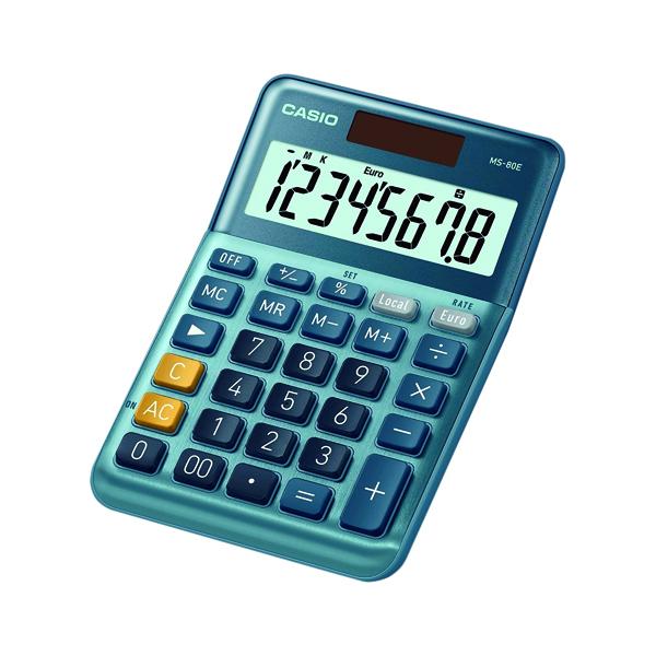 Casio MS-80E 8 Digit Desktop Calculator MS-80E-WK-UP