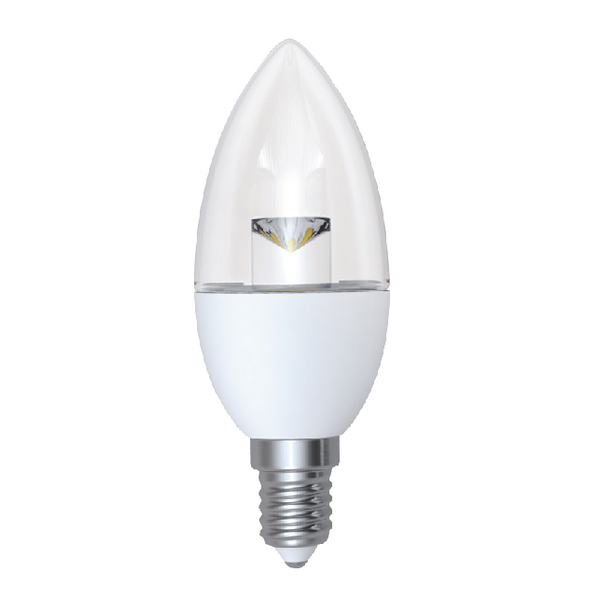 CED 5W Dimmable Candle LED Lamp E14 Clear DIMC5SESWW/CLR