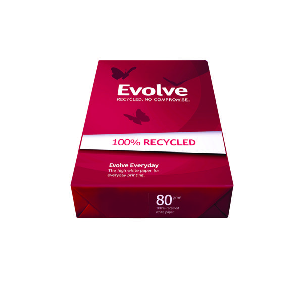 Evolve White Everyday Recycled A3 Paper 80gsm 500 Sheets (Pack of 500) 3613630000554