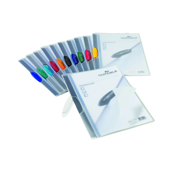 Durable Swingclip Clip Folders Assorted (Pack of 25) 2260/00