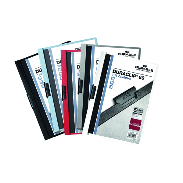 Durable 6mm Duraclip File A4 Assorted (Pack of 25) 2209/00