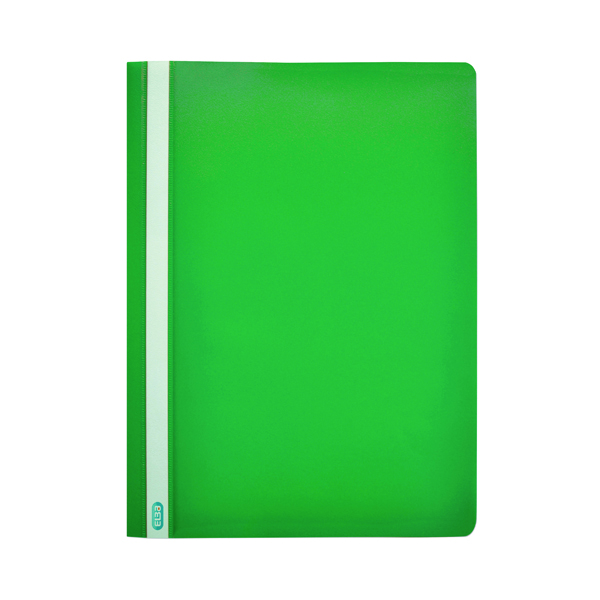 Image for 50 x Elba Report File A4 Green (Durable, wipe clean polypropylene with opaque back cover) 400055031