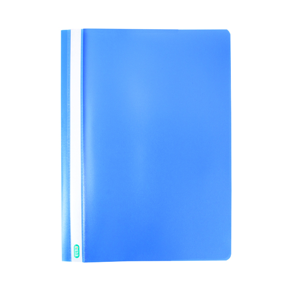 Image for 50 x Elba Report File A4 Blue (2 prong, 8cm flat bar mechanism) 400055030