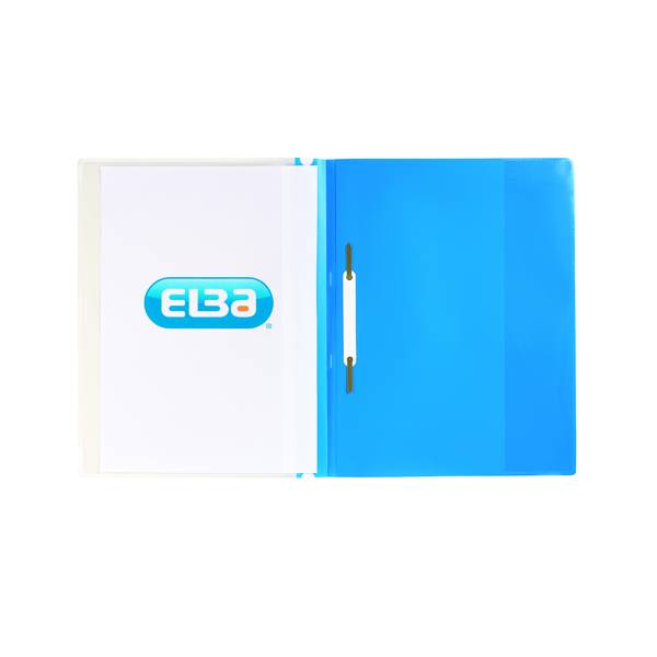 Elba Pocket Report File A4 Blue (Pack of 25) 400055037