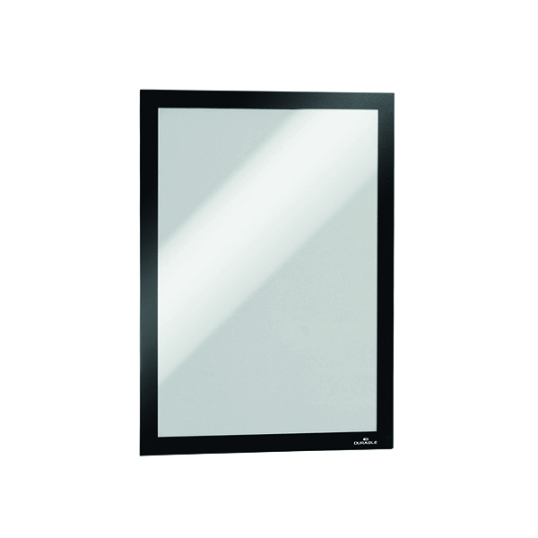 Durable Duraframe Self-Adhesive A4 Black (Pack of 2) 4872/01