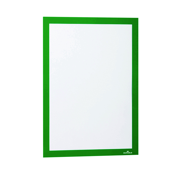 Durable Duraframe Self Adhesive Frame A4 Green (Pack of 2) 487205