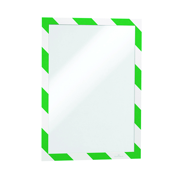 Durable Duraframe Self Adhesive A4 Green/White (Pack of 2) 4944131