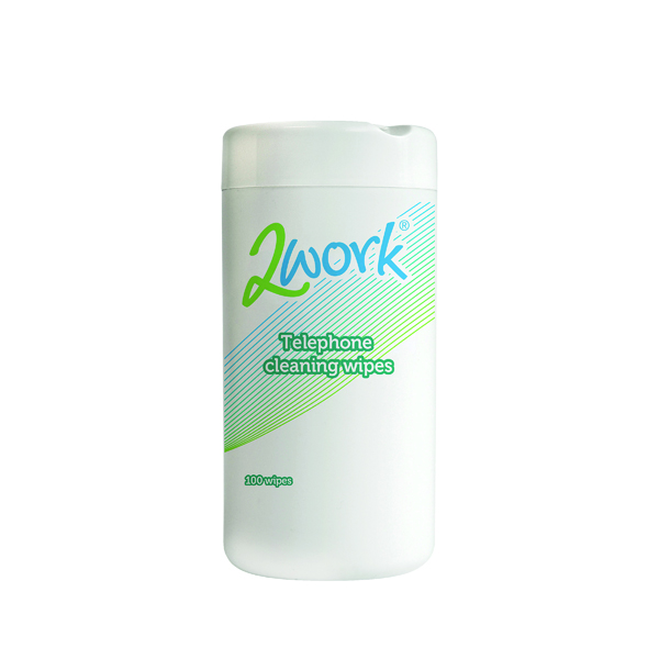 Image for 2Work Telephone Cleaning Wipes (Pack of 100) DB50347