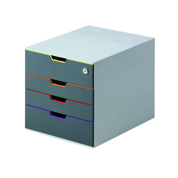 Durable Varicolor Safe 4 Drawer Box 760627