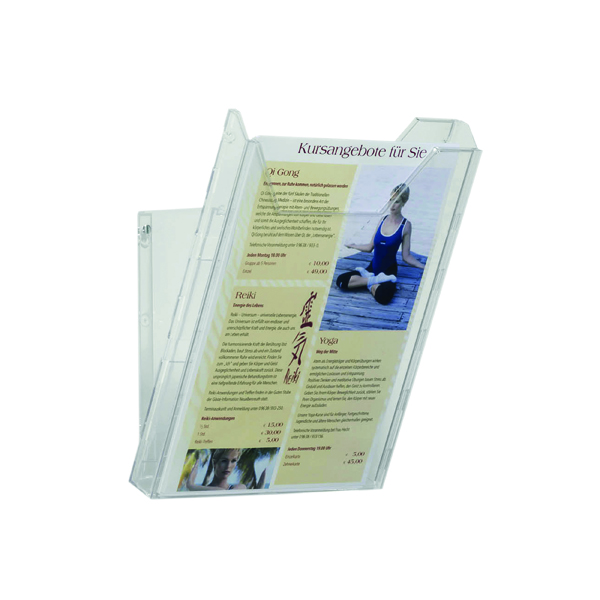 Durable Combiboxx A4 Portrait Literature Holder, Transparent 8578/19
