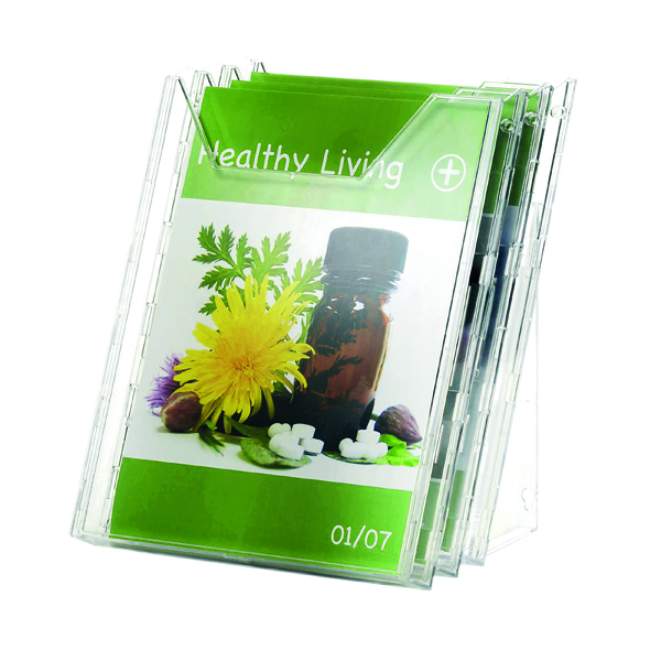 Durable Combiboxx Portrait Literature Holder, Transparent 3 X A4 8580/19