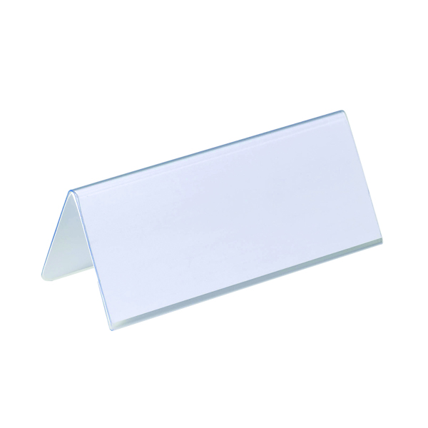 Durable Table Place Name Holder 61x150mm Transparent (Pack of 25) 8050
