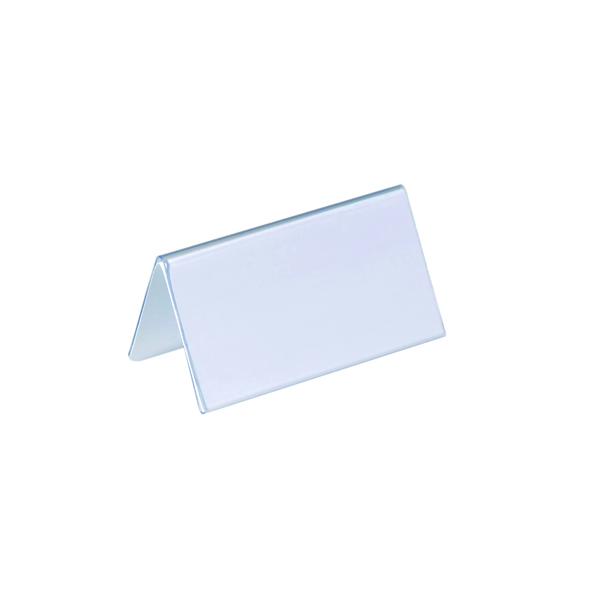 Durable Table Place Name Holder 52x100mm Transparent (Pack of 25) 8051